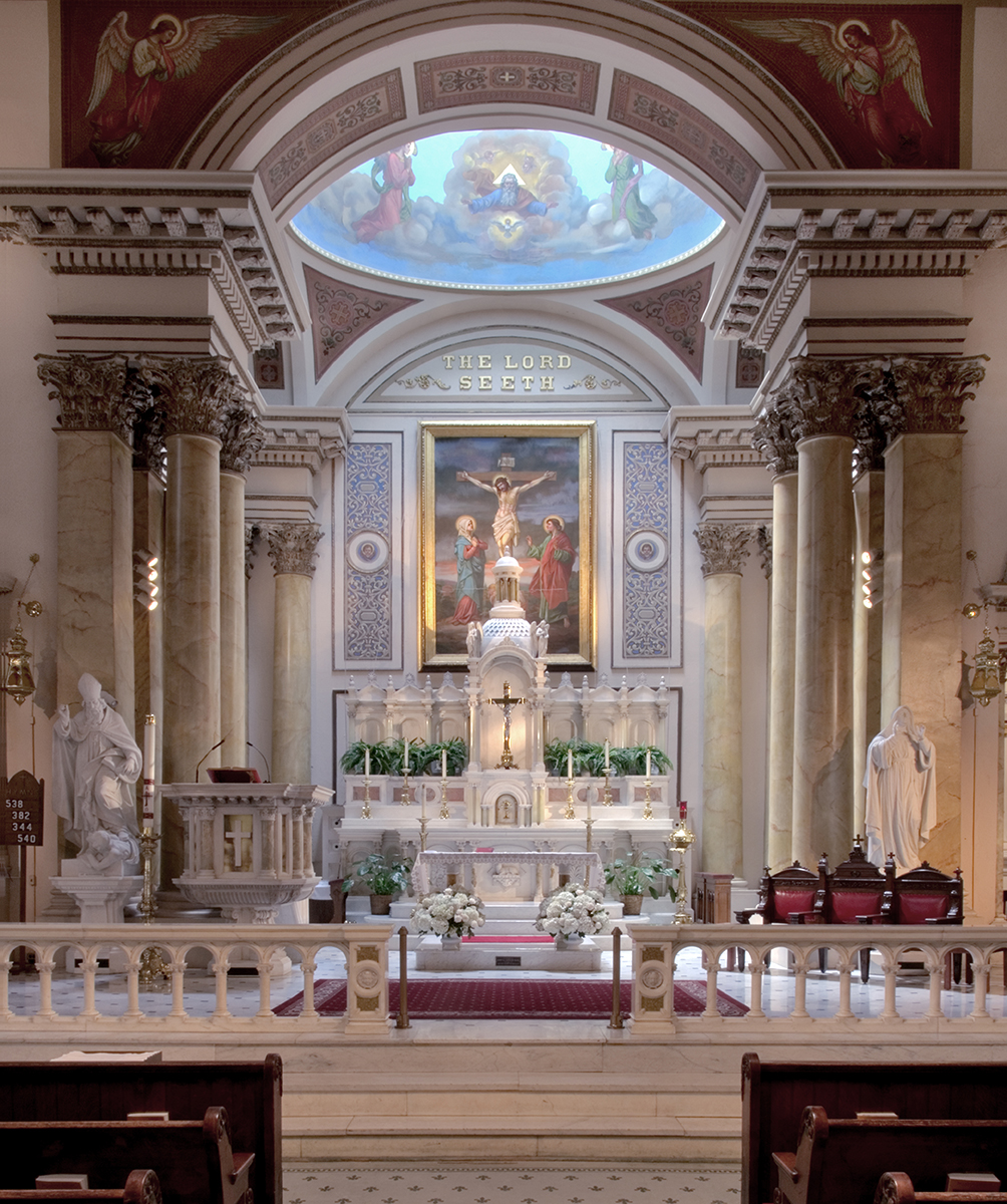 Altar of St. Augustine's (note the inscription above the altar)